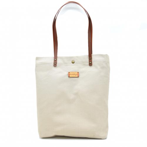 Tote Bag Monochrome Mundaya Beige