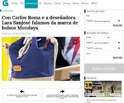 Lara Santomé, fundadora de Mundaya, es entrevistada en la TVG